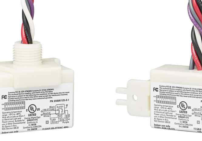 "Echoflex Solutions' LED Fixture Controllers come in ½"" nipple and surface (strap) mount form factors and are UL924 Listed"